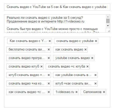 Tag generator for youtube  Selection of tags for YouTube