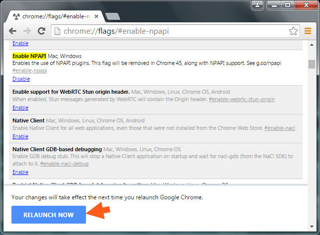 how to enable npapi plugins in google chrome manually